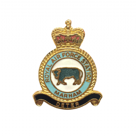 Royal Air Force RAF Station Marham Lapel Badge